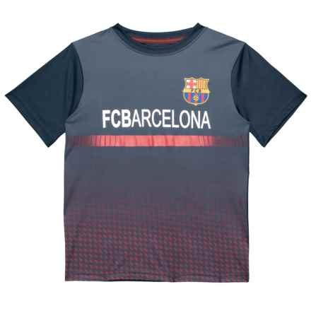 Barcelona Shirt - Short Sleeve (For Big Boys) in Navy - Closeouts