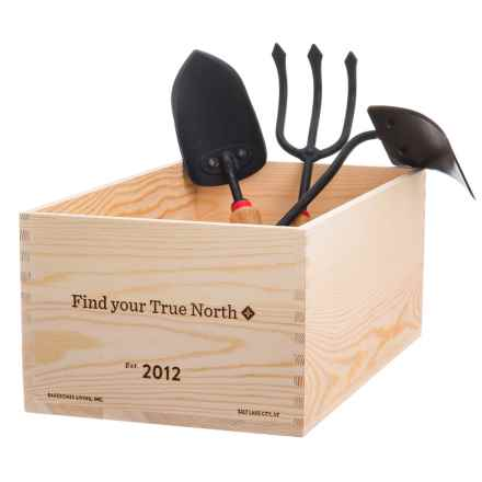 Barebones Living Classic Gardener Set in Black/Wood - Closeouts
