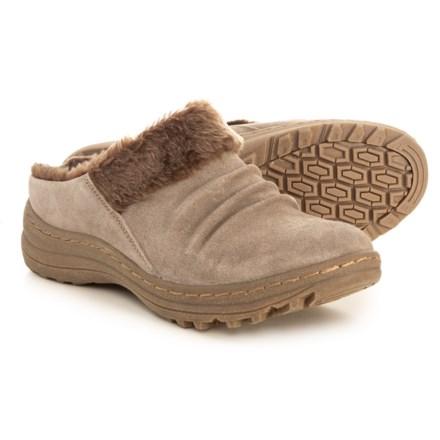 3066495aadb5 Baretraps Audry Clogs - Suede (For Women) in Mushroom Calf Suede Apex  Shearling