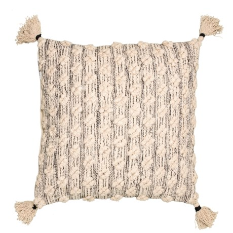 Image of Barlow Natural Textured Throw Pillow - 22x22?