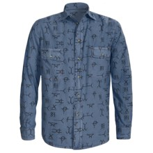 Barn Fly Trading Print Shirt - Long Sleeve (For Men) in Grey Brands - Closeouts