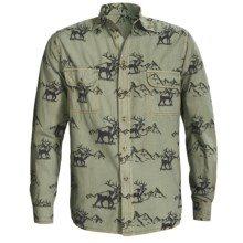 Barn Fly Trading Print Shirt - Long Sleeve (For Men) in Lily Pad Elk - Closeouts