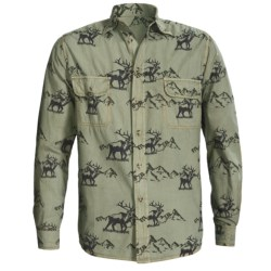 Barn Fly Trading Print Shirt - Long Sleeve (For Men) in Lily Pad Elk