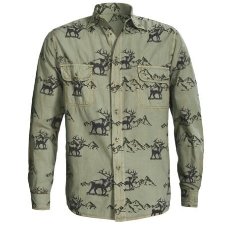 Barn Fly Trading Print Shirt - Long Sleeve (For Men) in Sky Posse