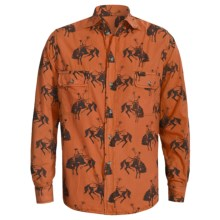 Barn Fly Trading Print Shirt - Long Sleeve (For Men) in Orange Bucking Horse - Closeouts