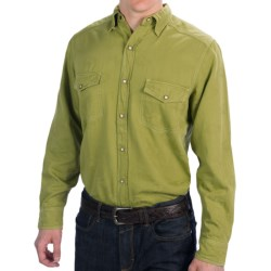 Barn Fly Trading Print Shirt - Long Sleeve (For Men) in Sage King Buffalo