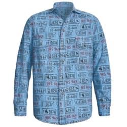 Barn Fly Trading Print Shirt - Long Sleeve (For Men) in Sky License Plate
