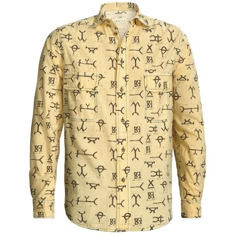Barn Fly Trading Print Shirt - Long Sleeve (For Men) in Wheat Brands