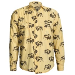 Barn Fly Trading Print Shirt - Long Sleeve (For Men) in Orange Bucking Horse