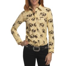 Barn Fly Trading Print Shirt - Long Sleeve (For Women) in Wheat Buffalo - Closeouts