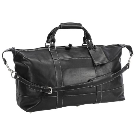 Barrington Captain's Bag- Leather in Black