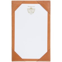 Barrington Corporate Pocket Jotter - English Saddle Leather in Tan - Closeouts