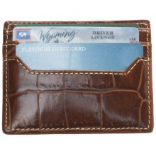 Barrington Covington Slim Card Case - Leather in Italian Moc Croc - Closeouts