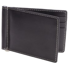 Barrington Flip Clip Wallet - Leather in Black - Closeouts