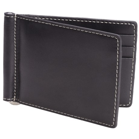 Barrington Flip Clip Wallet - Leather in Black