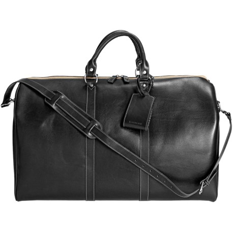 Barrington Leather Compton Weekend Bag in Black