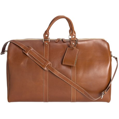 Barrington Leather Compton Weekend Bag in Tan