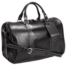 "Barrington Leather Jr. Compton Weekend Bag - 11x17x10"" in Black - Closeouts"