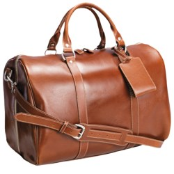 "Barrington Leather Jr. Compton Weekend Bag - 11x17x10"" in Tan"