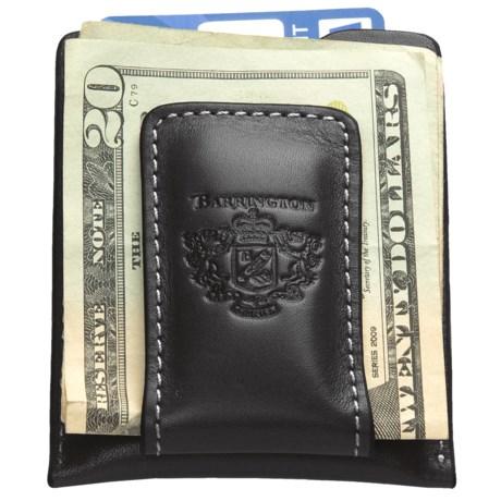 Barrington Original Money Clip - Leather in Black