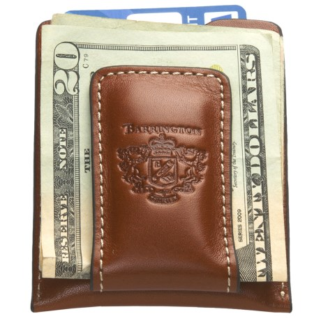 Barrington Original Money Clip - Leather in Black