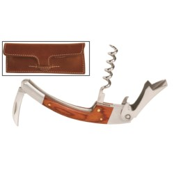 Barrington Sommeliers Corkscrew - Leather Case in Tan