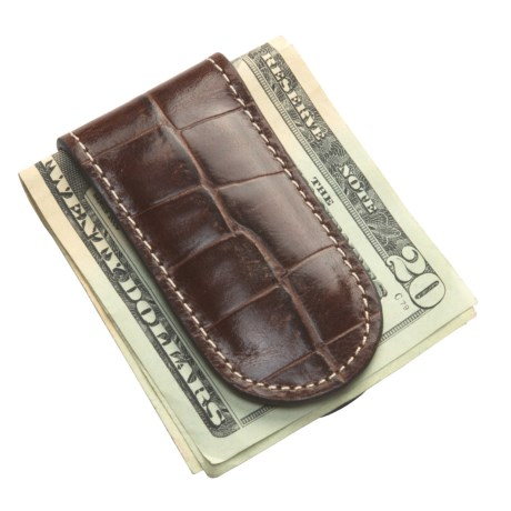 Barrington The Junior Money Clip - Leather in Italian Moc Croc