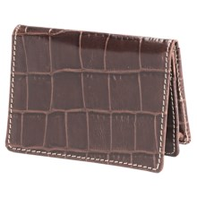 Barrington The Pocket Flip Wallet - Leather in Italian Moc Croc - Closeouts