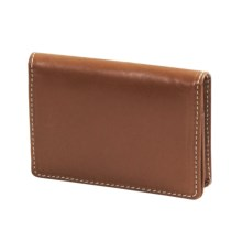Barrington The Pocket Flip Wallet - Leather in Tan - Closeouts