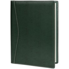Barrington Valencia Leather Dover Writing Portfolio in Green - Closeouts