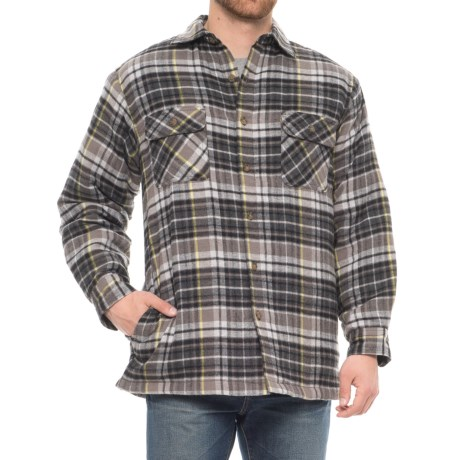 Image of Barrow Quilted Flannel Shirt - Long Sleeve (For Men)