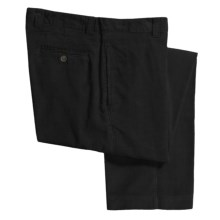 Barry Bricken Corduroy Pants - Flat Front (For Men) in Black - Closeouts