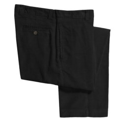 Barry Bricken Corduroy Pants - Flat Front (For Men) in Black