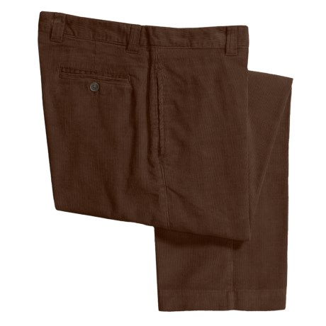 Barry Bricken Corduroy Pants - Flat Front (For Men) in Chocolate