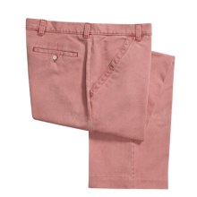 Barry Bricken Cotton Twill Pants - Flat Front (For Men) in Nantucket Red - Closeouts
