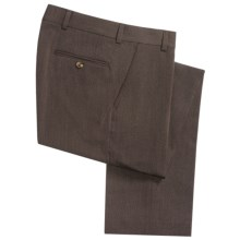 Barry Bricken Covert Twill Pants - Stretch Wool (For Men) in Brown - Closeouts