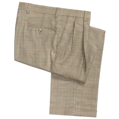 Barry Bricken Dblrvrs pl Pants - Double-Reverse Pleats, Cuffed (For Men) in Tan Plaid
