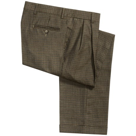 Barry Bricken Dblrvrs pl Pants - Double-Reverse Pleats, Cuffed (For Men) in Taupe/Rust/Navy