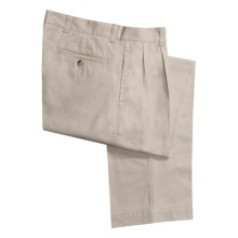Barry Bricken Enzyme Stonewash Pants - Cotton Twill, Pleated front (For Men) in Stone - Closeouts