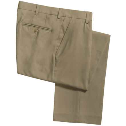 Barry Bricken Microfiber Pants - Flat Front (For Men) in Khaki - Closeouts