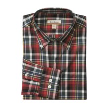 Barry Bricken Plaid Sport Shirt - Button Down, Long Sleeve (For Men) in Multi Red/Green - Closeouts