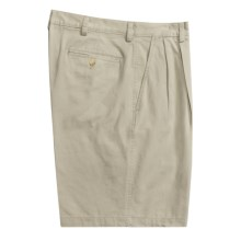 Barry Bricken Pleated Shorts - Cotton Twill (For Men) in Stone - Closeouts