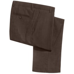 Barry Bricken Sharkskin Pants - Stretch Wool (For Men) in Brown