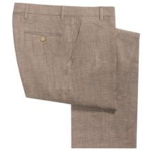 Barry Bricken Silk-Wool Basket-Weave Pants (For Men) in Brown - Closeouts