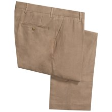 Barry Bricken Silk-Wool Pants - Flat Front (For Men) in Tan - Closeouts