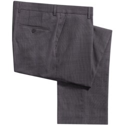 Barry Bricken Stretch Wool Dress Pants - Tic Weave (For Men) in Black