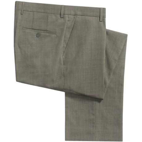 Barry Bricken Stretch Wool Dress Pants - Tic Weave (For Men) in Tan