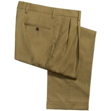 Barry Bricken Superfine Wool Dress Pants - Cuffs, Pleats (For Men) in Tan - Closeouts