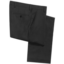 Barry Bricken Superfine Wool Dress Pants - Flat Front (For Men) in Grey - Closeouts