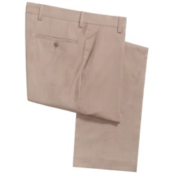 Barry Bricken Superfine Wool Dress Pants - Flat Front (For Men) in Light Tan